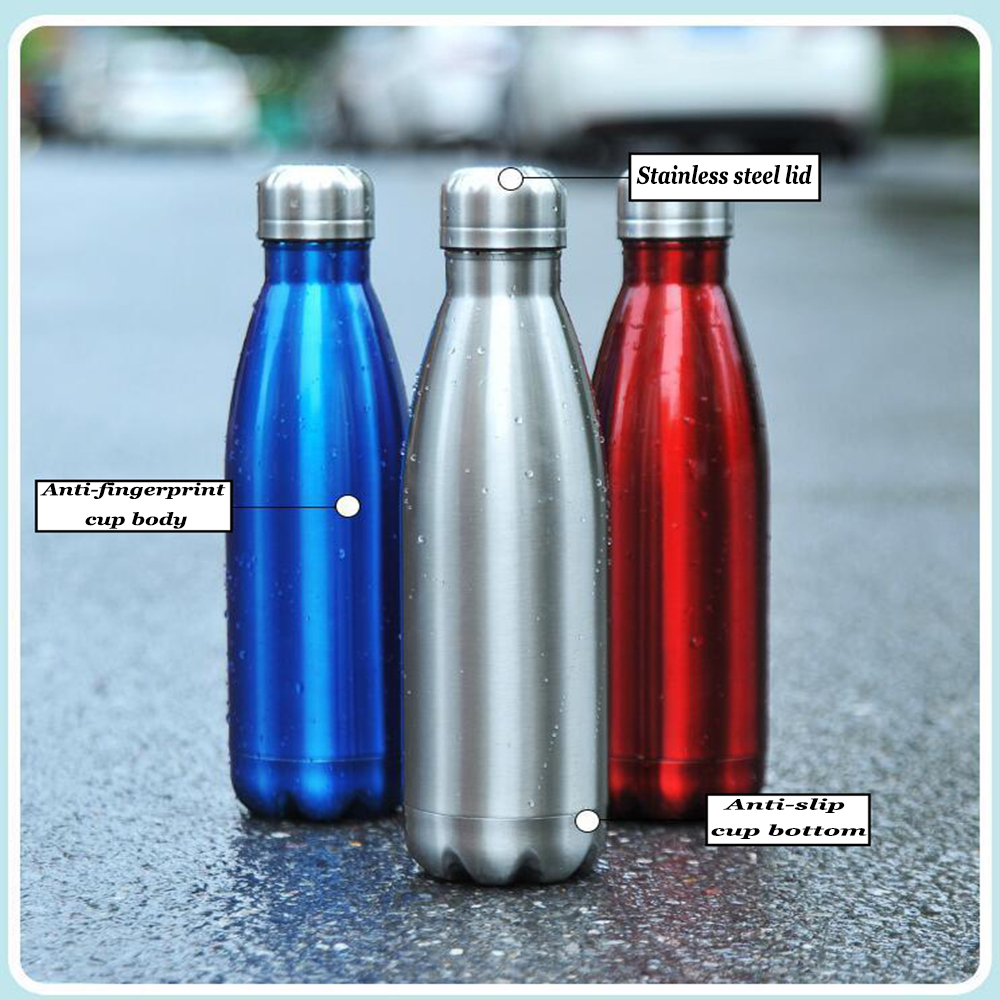 New Vacuum Thermos Bottle Flask Thermos Stainless Steel Cold Cup Insulate Double Wall Water Bottle Barrel Drink Bottle 350/500ml water bottle