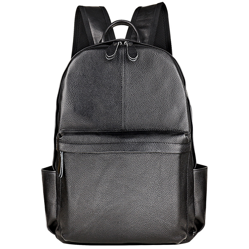 New Brand 100% Genuine Leather Men Backpacks Fashion Real Natural Leather Student Backpack Boy Luxury Lager Computer Laptop BagNew Brand 100% Genuine Leather Men Backpacks Fashion Real Natural Leather Student Backpack Boy Luxury Lager Computer Laptop Bag