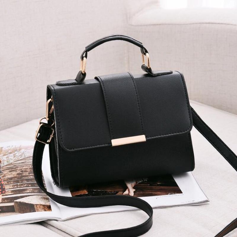 2018 Summer Fashion Women Bag Leather Handbags PU Shoulder Bag Small Flap Crossbody Bags For Women Messenger Bags