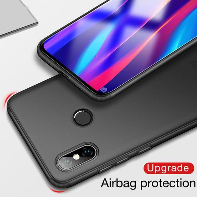 Mate de la cubierta del TPU del caso para Xiaomi mi 8 Lite SE 5x A1 6X A2 Lite Max 3 Airbag casos rojo mi Nota 5 caso 6 caso Pro 6A S2 4X4 4A 5A 5 Plus
