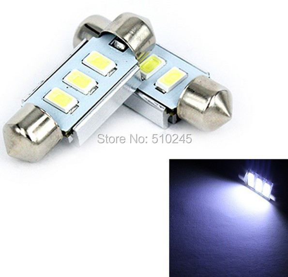 30X new arrival Festoon 31mm 3 leds 5630 smd CANBUS Error Free LED Light Car Reading License plate light 12V free shipping