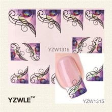 YZWLE Hot Sale 1 Sheet Watermark Sticker France Stickers For Nail Art, DIY Water Transfer Decal Nail Tools