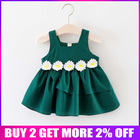BibiCola Summer Baby Dress Casual Style Baby Girls Dress Kids Clothes Floral Dress Baby Girl Clothes