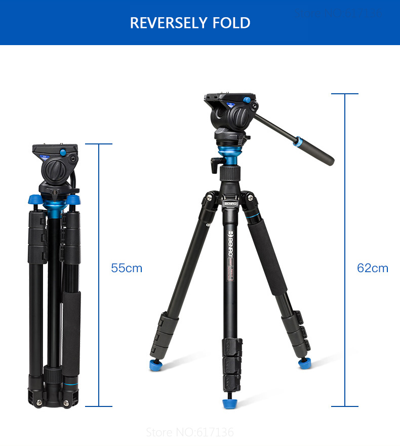 A2883FS4 Video Tripod 14-4