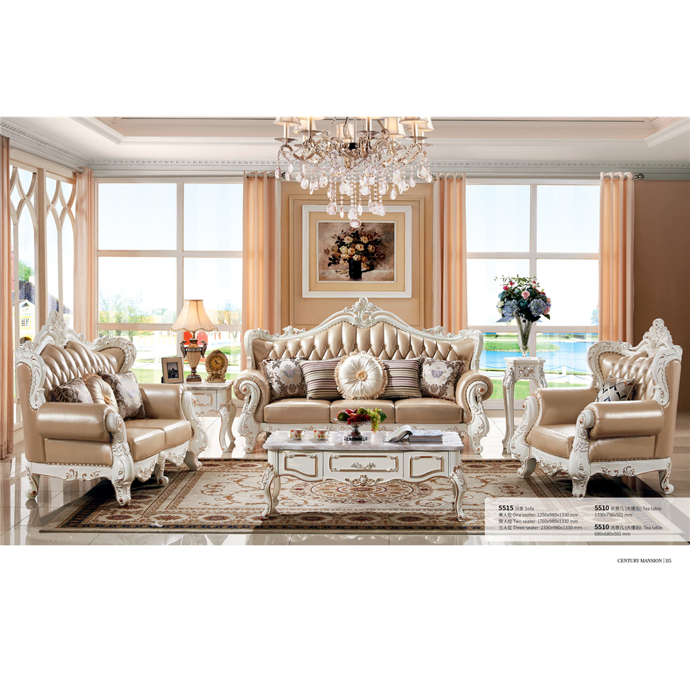 home furniture luxury dimensions leather 3 seater sofa-in ...