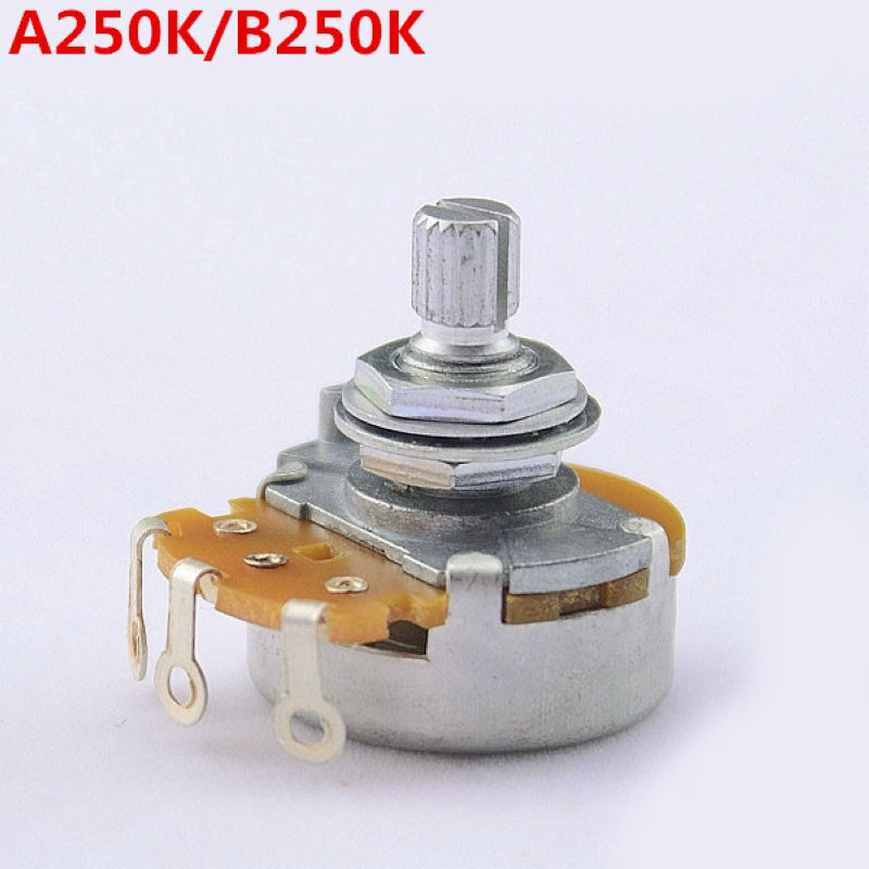 1 Piece Super Quality GuitarFamily A250K/B250K Big Potentiometer(POT) For Electric Guitar (Bass) MADE IN JAPAN ( #6003 ) guitar bass pickup a250k push pull control pot potentiometer for electric guitar accessories ea14