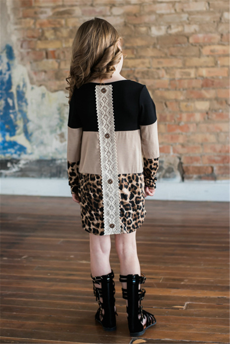 HTB16lFxadfvK1RjSszhq6AcGFXaF - LILIGIRL Mother Daughter Dresses Spring New Mommy and Me Dress for Family Matching Clothes Leopard Lace Mom Girl Dress