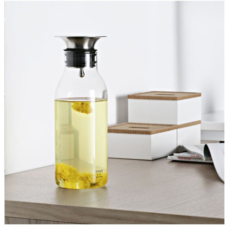 Samadoyo My Bottle 700ml Heat-resistant High Boron Silicon Juice Bottle Large Capacity Water Glass Bottle With Lid S064