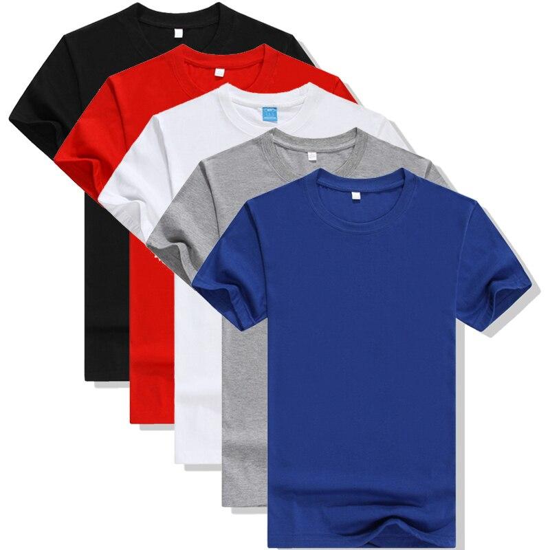 5pcs 2019 Simple Creative Design Line Solid Color T Shirts Men's New Arrival Style Summer Short Sleeve Men T-shirt Plus Size