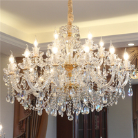 Gold Crystal Chandelier Dining Room Bohemian Crystal Chandelier for Living Room Decorative Hanging Light Fixtures Chandeliers|Chandeliers|   -