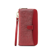 UR BOURSE Womens Long Clutch Bag Ladies Sequins Card Holder Female Large Capacity Wallet Portable Purse Multi-function Hand