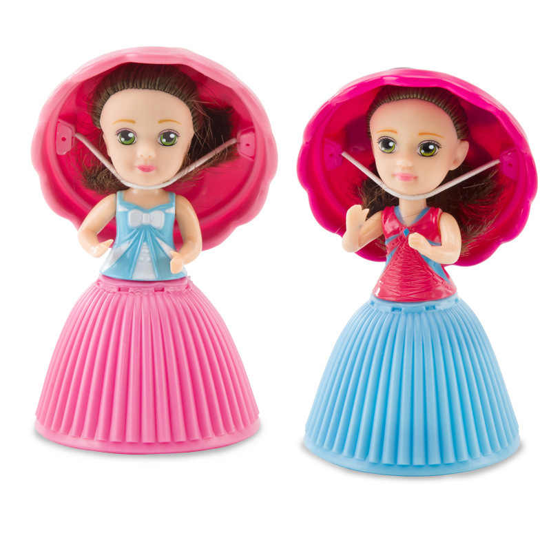Novo Estilo de Bonecas Princesa 9 centímetros Queque Do Queque Surpresa Deformável Boneca Bonecas Brinquedos Para Crianças Presente de Aniversário de Mini Bolo Do Copo boneca
