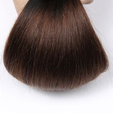 Ombre Brazilian Straight Hair Weave Bundles Non Remy Human Hair Extensions