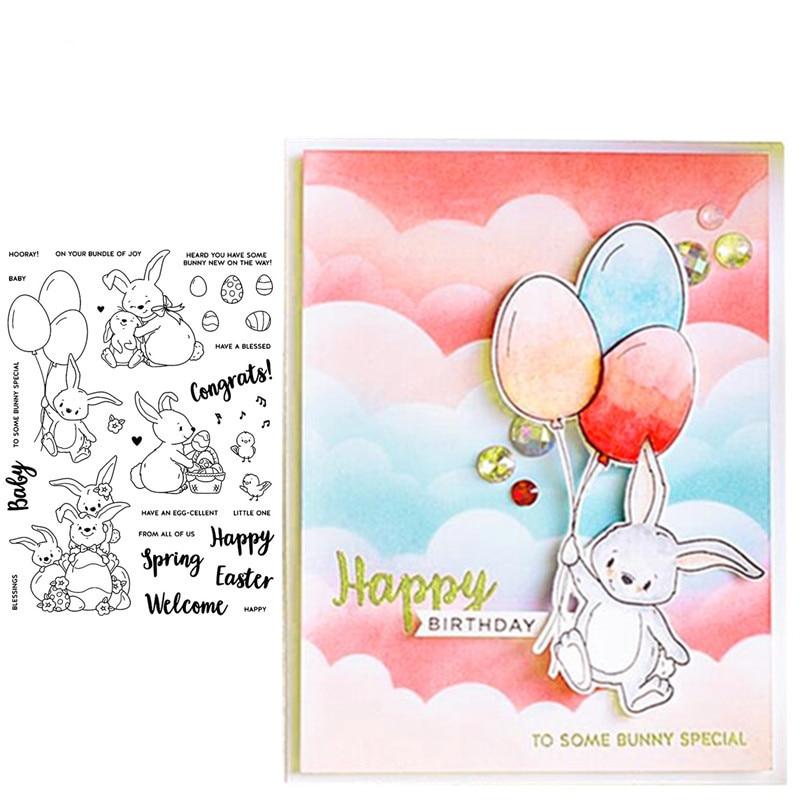 Rabbit on Bike Acrylic Stamp Brand New Cardmaking Scrapbooking
