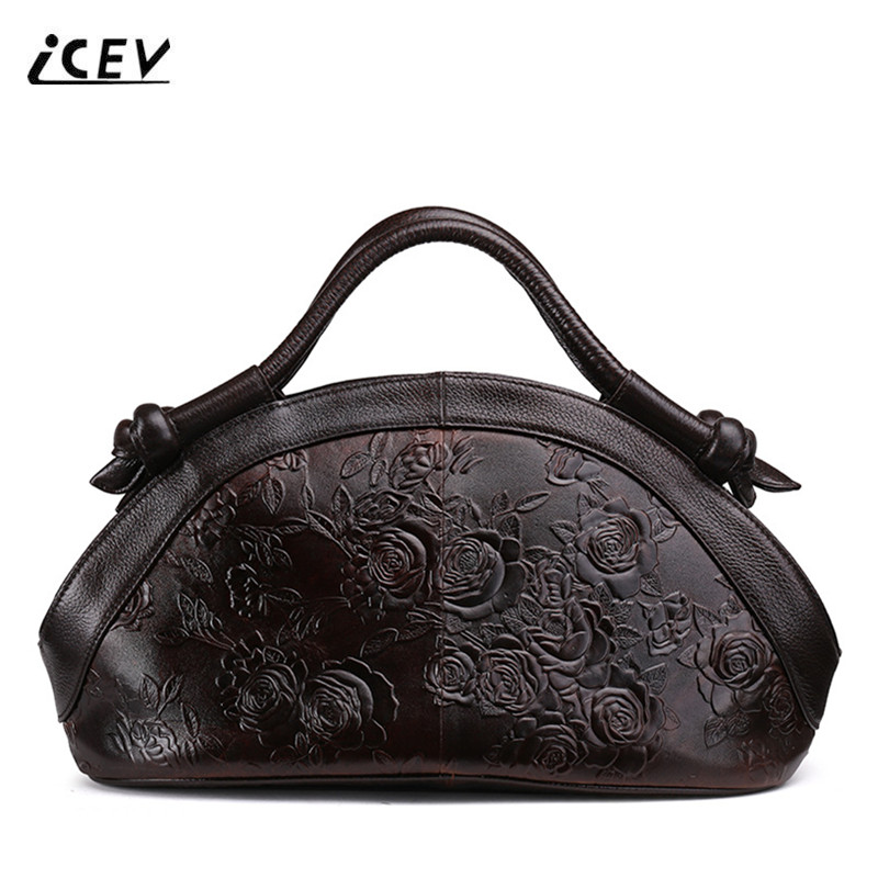 ICEV New Designer Handbags High Quality Genuine Leather Handbags Flower Women Leather Doctor Bags Handbags Women Famous Brands icev new fashion europe style genuine leather handbags alligator women leather handbags bags handbags women famous brands bolsa