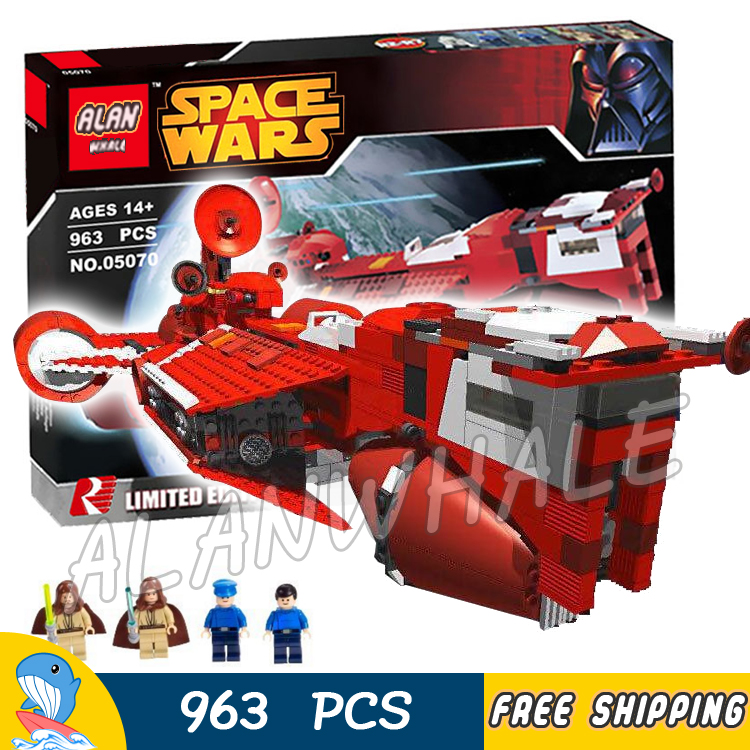 963pcs New Space Wars Republic Cruiser 05070 Model Building Blocks Bricks Gifts Children Boys Toys Compatible With Lego 499pcs new space wars at dp robots 10376 model building blocks toys gift rebels animated tv series bricks compatible with lego