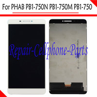 White LCD DIsplay Touch Screen Digitizer Assembly For Lenovo PHAB 6 8 PB1 750N PB1 750M
