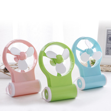 New Portable 3 Color Mini USB Desk Fan Creative Home Office Desktop Fan with Recycled Charging