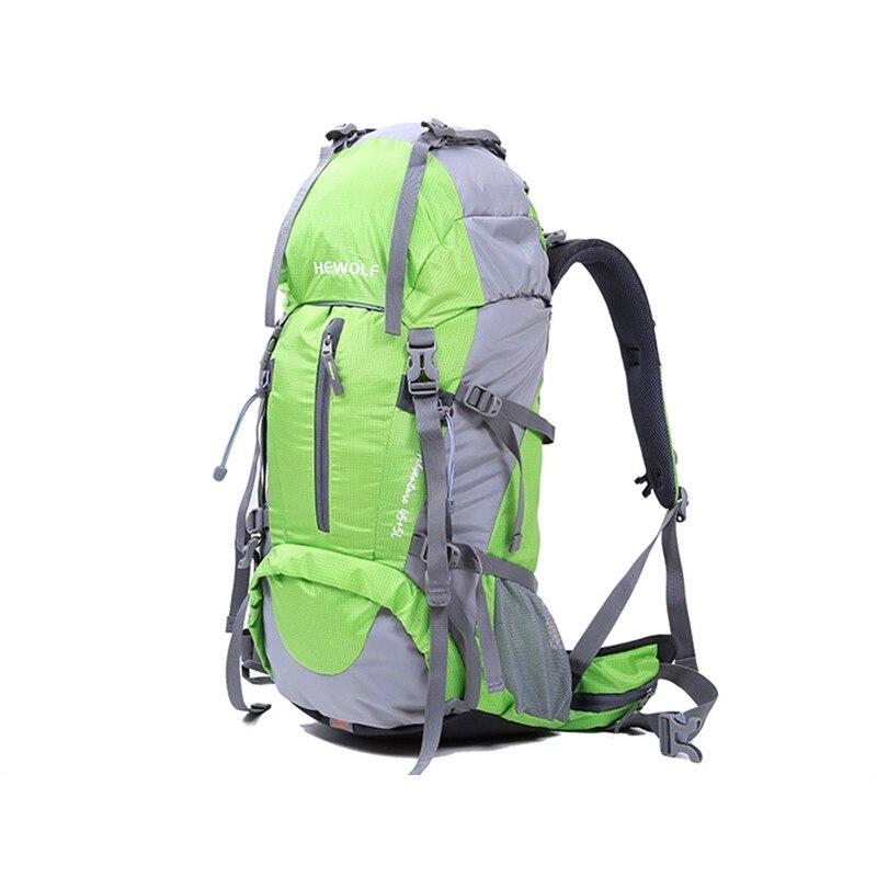 Hewolf сумка для скалолазания Hewolf на открытом воздухе 45л + 5л походный рюкзак, рюкзак для активного отдыха, спорта, походов, кемпинга, рыбалки, путешествий, дождевик - 5
