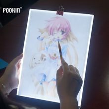 Фотография 3.5mm Ultrathin USB A4 LED Dimmable Art Facsimile Drawing Board Light Box Pad Drawing Tablet LED Tracing Painting Board