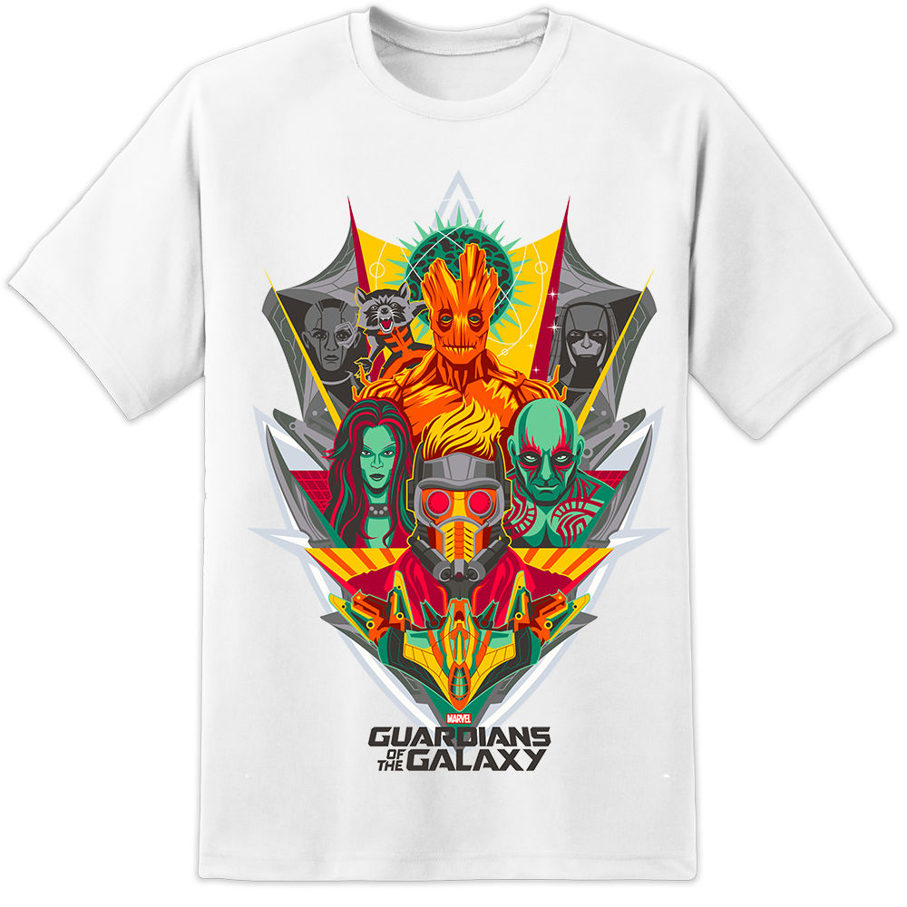 Marvel Guardians Of The Galaxy Collage Iron Man Captain America 2018 New Arrival T-Shirt