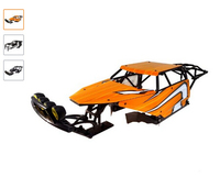 King Motor Class 1 HD Plastic Roll Cage & Panel Kit (orange) Fits on any Baja Buggy vehicle (HPI 5b SS 2.0 etc,..)