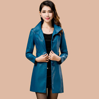 Women S Leather Trench Coat 2017 Hot Sale Top Fashion Suede M 5xl Army Green Long