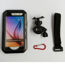 IPX8 Protective Phone Cases Motorcycle Bike Waterproof Case for Samsung Galaxy S7/S6/S6 Edge/S5/S4/S3 (Black)  Bike Mount Holder
