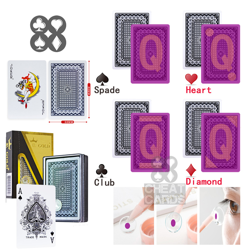 Korea Gold Kingdum Perspective Poker Invisible Playing Cards Gamble Cheat Marked Poker Poker Cheat Paper Cards Casino <font><b>Cheating</b></font> image
