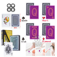 Korea Gold Kingdum Perspective Poker Invisible Playing Cards Gamble Cheat Marked Poker Poker Cheat Paper Cards Casino Cheating