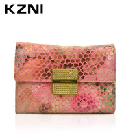 KZNI Womans Wallet For Credit Cards Wallet With Card Slots Women Designer Day Clutches Hand Made