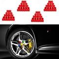 Hot Sale 5Pcs Red 17/19 Silicone Hexagonal Socket Car Wheel Hub Screw Cover Nut Caps Bolt Rims Exterior Decoration & Protection