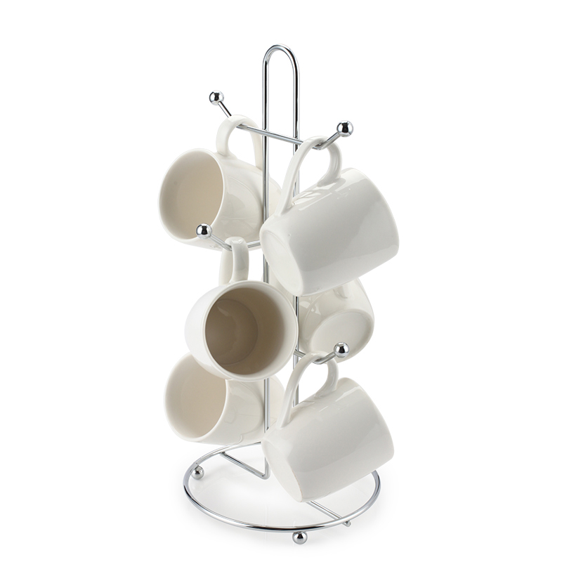 Quality coffee mug tree stand cup holder glass storage for Coffee mug display rack