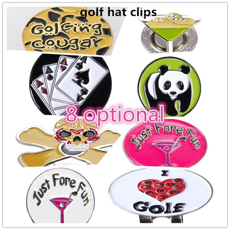 Mounchain Golf Ball Clip Unique Patterns Markings Golf Cool Markers Golf Cap Clip