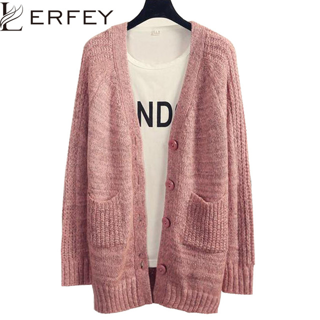 c0e169f6af455 Cardigan Women Oversized Sweaters Knitted Sweater Long Sleeve Casual  Cardigans Sueter Buttons Pockets Poncho Outwear Kardigan