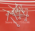 50pcs/lot 925 Solid Sterling Silver Eye Pin 0.6x15mm Silver 925 Finding for Jewelry Making