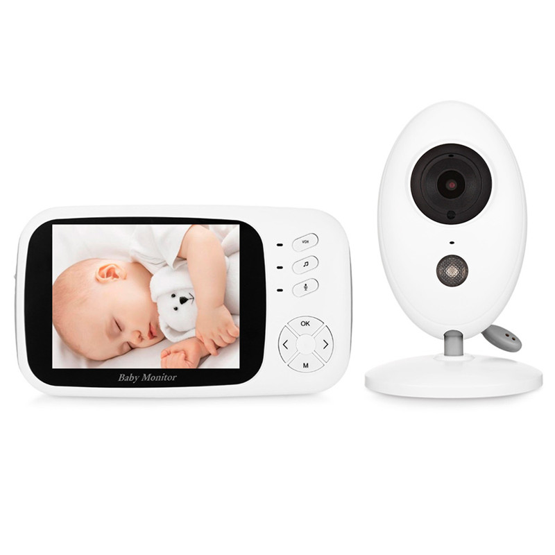 3 5 inch Wireless Video Baby Monitor With Camera Night Vision Temperature Monitoring Feeding Time Reminder