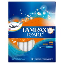 TAMPAX Discreet Pearl Тампоны женские гигиенические с аппликатором Super Plus Duo 18 шт