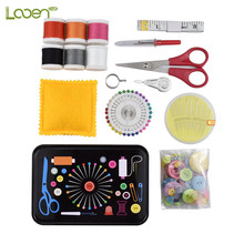 Multi-function Sewing Kits Scissors Threads Needles Tape Measure Accessories Set with Box For Home &Travelling
