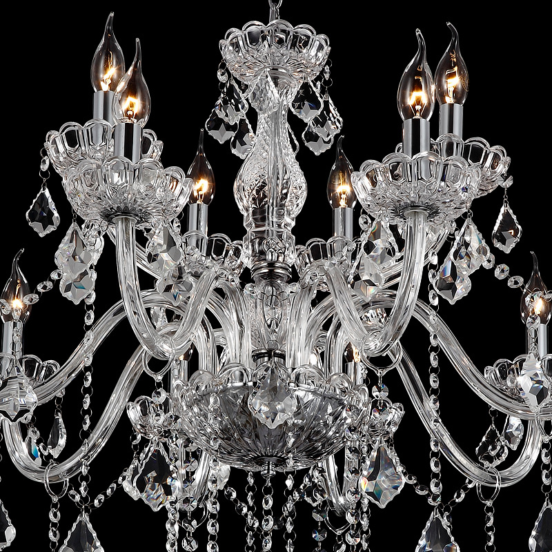 Dx Luxury Clear Crystal Led Chandelier Lighting Living Room K9 Chandeliers Candlestick Lampadario Avize In From Lights