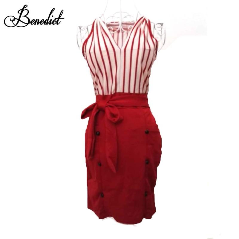 f96592a40c02 Benedict Women New Clubwear Fashion Sleeveless Dress Black amp red qAAxwdtr