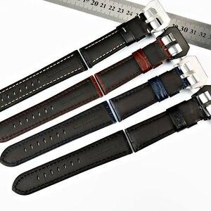 Image 3 - MAIKES 22mm 24mm 26mm חדש עיצוב להקת שעון שחור חום כחול עגל עור אמיתי שעון רצועת שעון אביזרי רצועת השעון