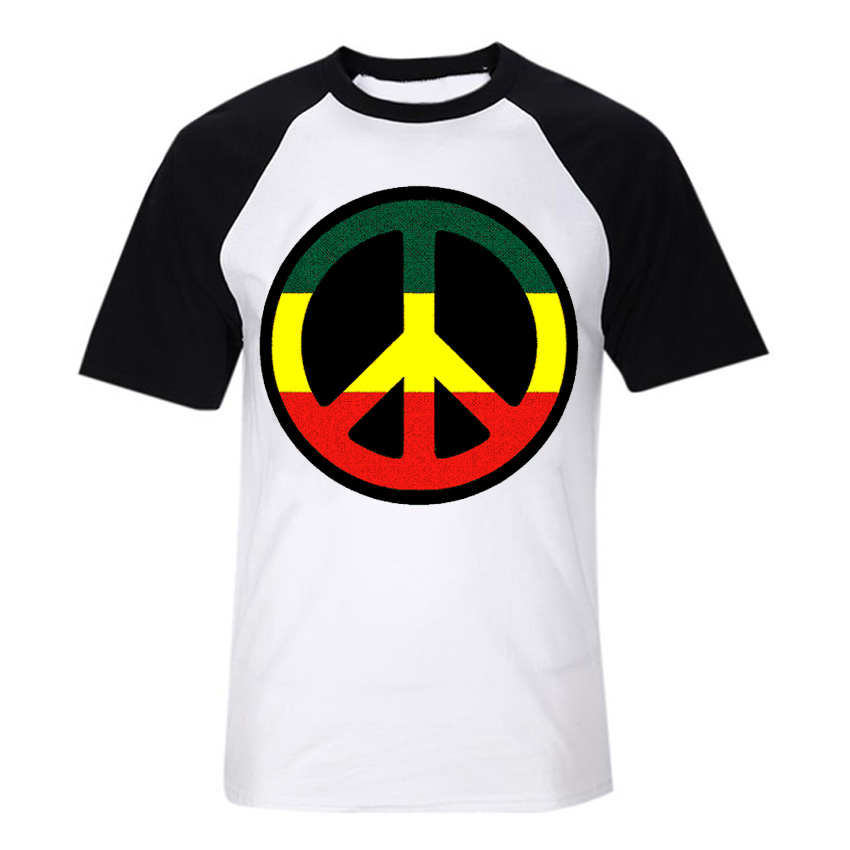 Love And Peace Reggae Rock Fashion Soft Cotton Short Sleeves T Shirt