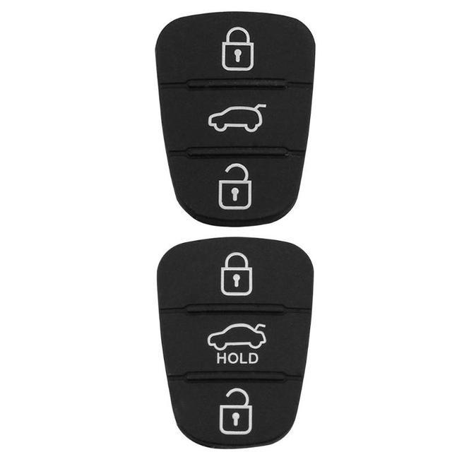 Nova substituição almofada de borracha 3 botões flip carro remoto chave do escudo para hyundai i30 ix35 kia k2 k5 caso capa