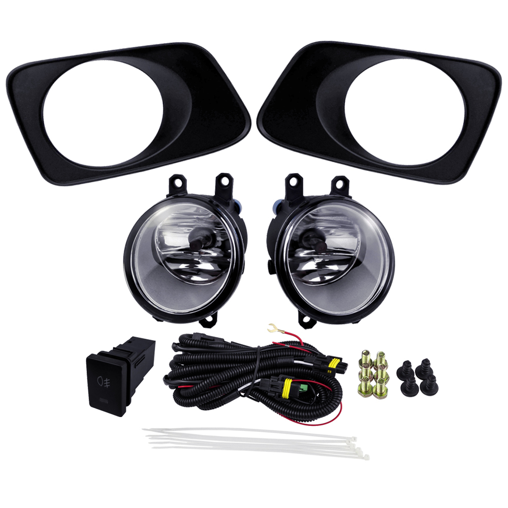 For Toyota Corolla Axio Fielder 2007 Fog Light Assembly Car Accessories Sets ABS Plastic 4300K Yellow 12V 55W front foglamp plating cover set for toyota corolla axio fielder 2007 abs 4300k yellow 12v 55w driving fog lights car accessories