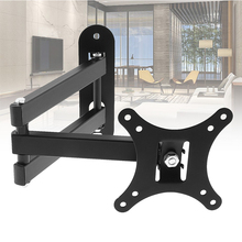 Universal 10KG TV Wall Mount PC Monitor TV Holder Rotated TV Wall Bracket Tilt Swivel TV Stand with Wrench for 10-26Inch Monitor free shipping universal metal white wall mount stand bracket for cctv security camera
