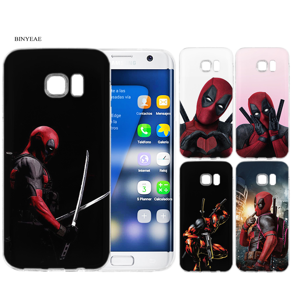 US $2 19 32% OFF|BINYEAE Deadpool Silicone Case Cover Shell Coque for  Samsung Galaxy S9 S8 Plus S7 S6 Edge S5 Mini S9+ S8+-in Fitted Cases from