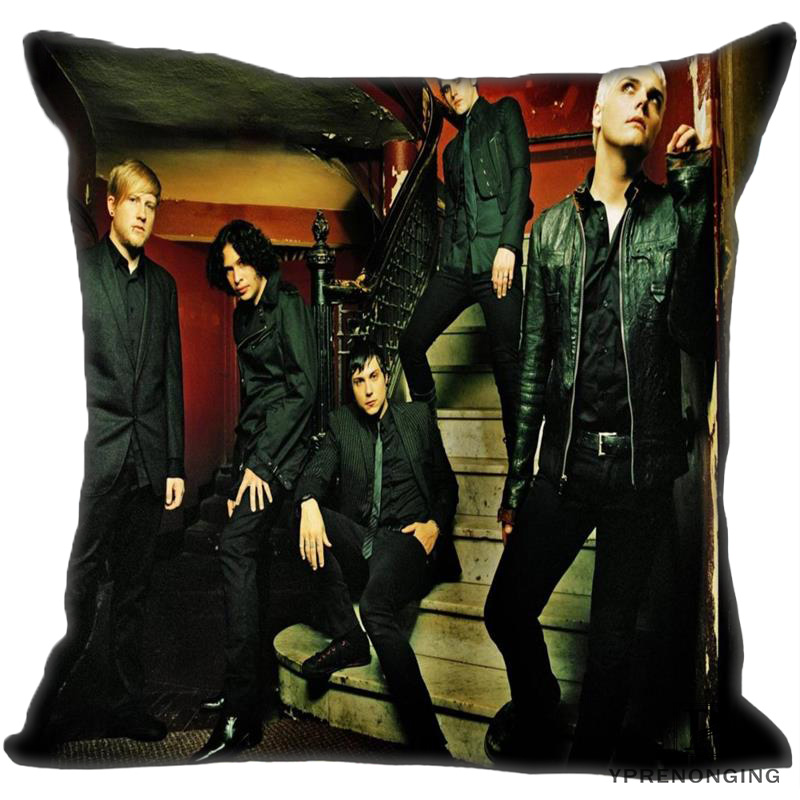 Best Custom My Chemical Romance (2) Pillow Case Bedroom Home Square Zipper Pillowcases (One Side) #190404-01-200