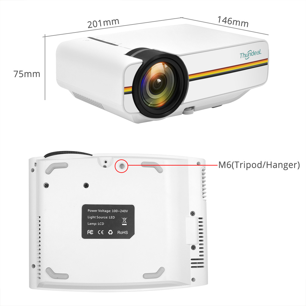 ThundeaL YG400 YG400A Mini Projector With 1800 Lumen and Built-in Speakers 24