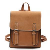 Women Double Arrow Backpack PU Leather Ladies Vintage Backpacks Fashion Shoulder Bag Female School Bags For